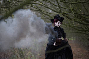 Stock - Lady with a box gothic baroque fantasy 2 by S-T-A-R-gazer