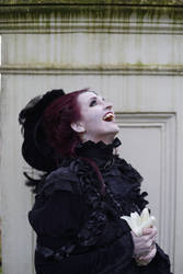 Stock - Vampire fun lady laughing