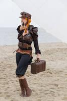 Stock - Steampunk woman shoot by S-T-A-R-gazer