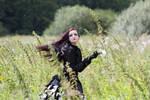 Stock - fields rose burton gothic flying hair