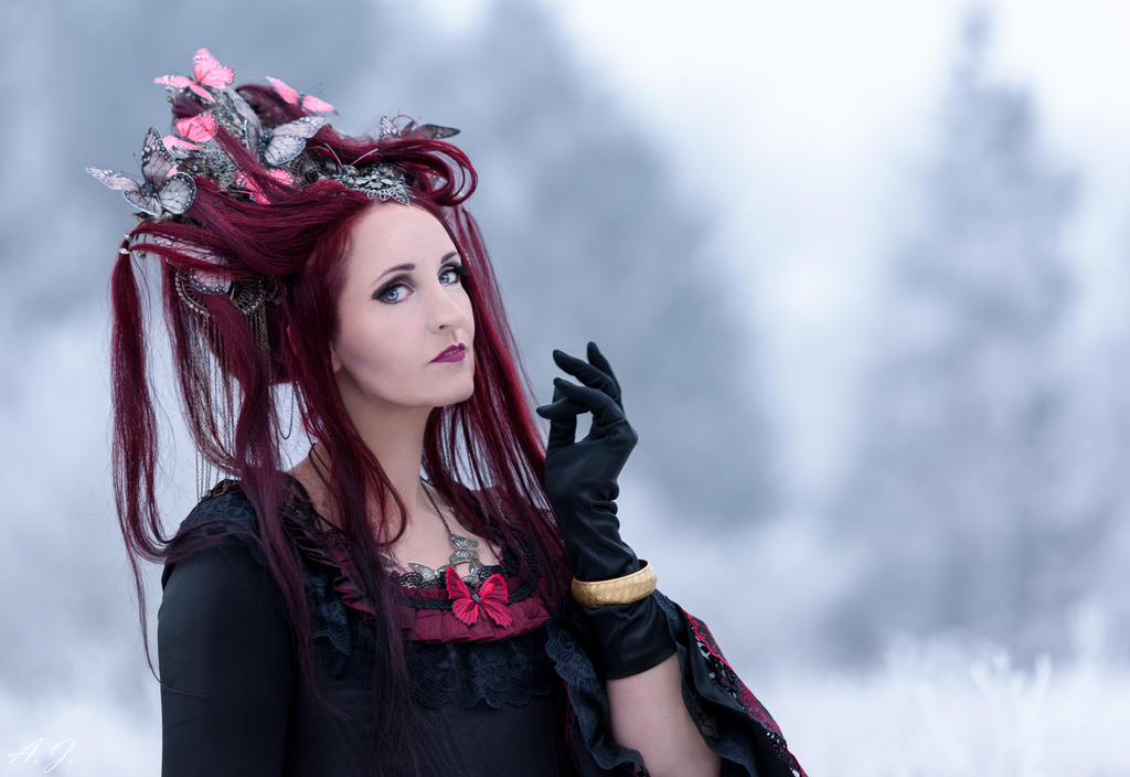 Winter melancholy ... Lady  Butterfly by S-T-A-R-gazer