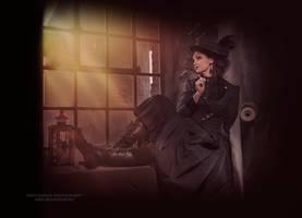 The poetess   ....   steampunk by S-T-A-R-gazer