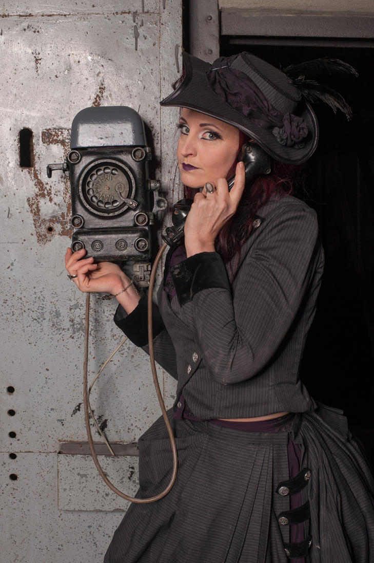 Stock - Steampunk on the telephone close by S-T-A-R-gazer