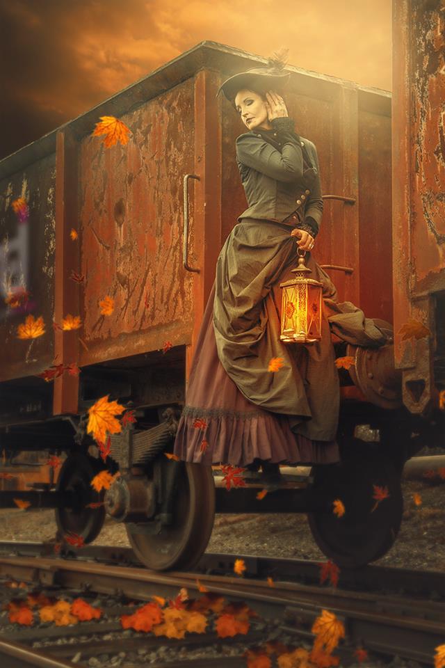 Last autumn days ....     steampunk by S-T-A-R-gazer