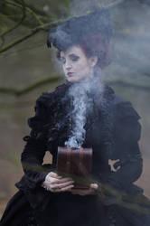 Stock - Gothic baroque magic smoke lady by S-T-A-R-gazer
