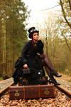 Stock - Steampunk trip looking  nostalgia  2