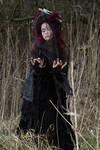 Stock - Voodoo woman conjures magic dark spell