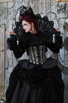 Stock - Gothic baroque lady portrait sideview