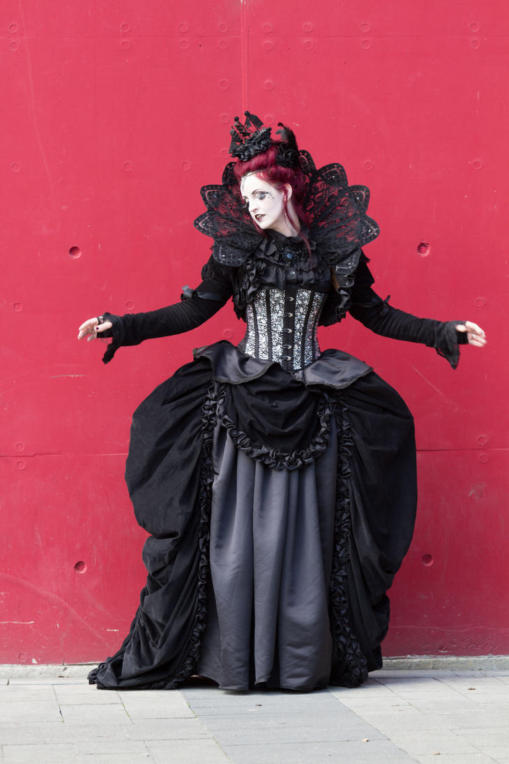 Stock - Gothic woman vampire red wall pose 1 by S-T-A-R-gazer