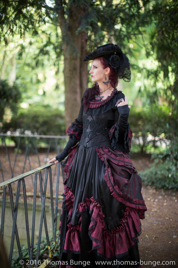 Stock - Baroque Lady  parc romantic portrait 3 by S-T-A-R-gazer