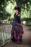 Stock - Baroque Lady  parc romantic portrait 4