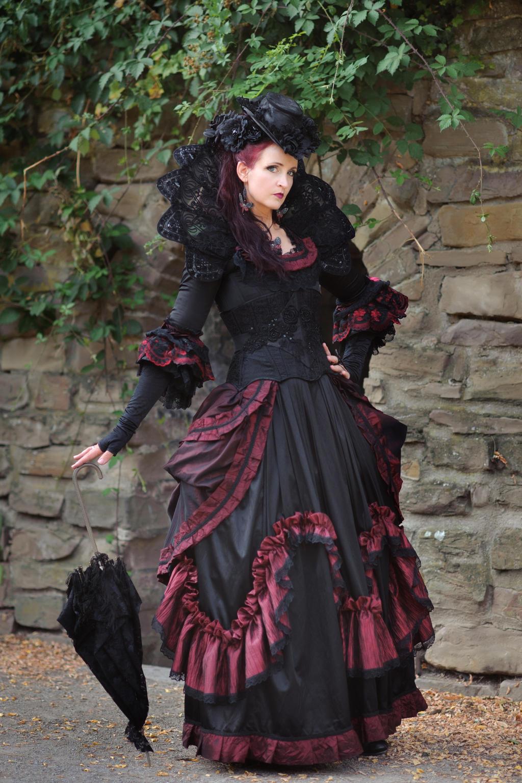 Stock - Baroque Lady with umbrella pose gothic 1