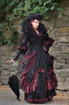 Stock - Baroque Lady with umbrella pose gothic 1