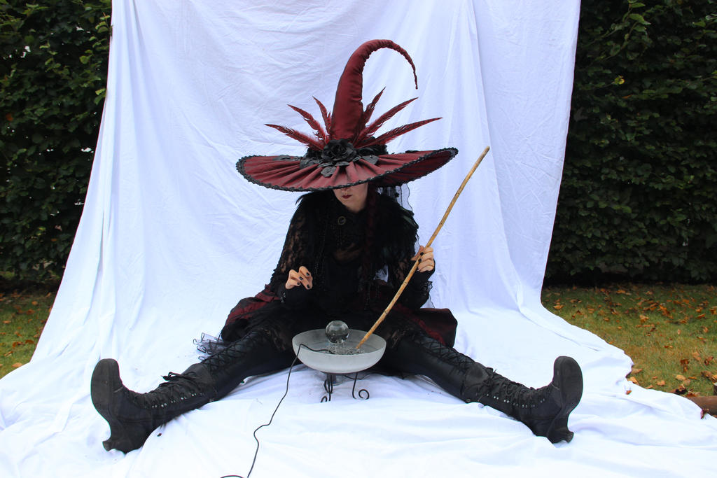 Stock - Witch is cooking brew for halloween by S-T-A-R-gazer