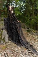 Stock - Faun Shoulder view fantasy woman female by S-T-A-R-gazer