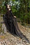 Stock - Faun Shoulder view fantasy woman female