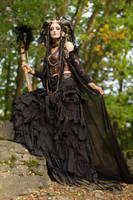 Stock - Faun fantasy pose gotic dark by S-T-A-R-gazer