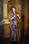 Stock - Baroque Lady with lantern full body 4