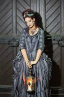 Stock - Baroque Lady with lantern sad pose by S-T-A-R-gazer