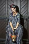 Stock - Baroque Lady with lantern sad pose