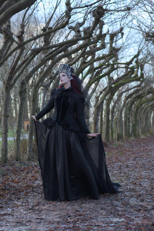 Stock - Gothic woman dark fantasy side pose by S-T-A-R-gazer
