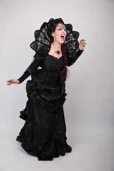 Stock - Vampire woman scream expressive gothic 2