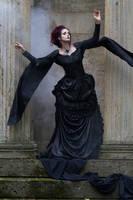 Stock - Gothic Dark woman hand pose dark wind 3 by S-T-A-R-gazer