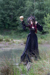 Stock - Gothic sea goddess with golden ball by S-T-A-R-gazer