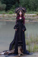 Stock - Gothic sea goddess sad looking at you 2 by S-T-A-R-gazer