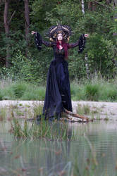 Stock - Gothic sea goddess risen  hands up by S-T-A-R-gazer