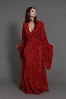 Stock - Melisandre red priestess closed eyes