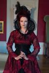 Stock - Victorian lady straight portrait pose
