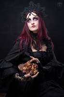 Stock - Rotten flowers.. woman gothic dark look up by S-T-A-R-gazer