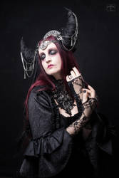 Stock - The dark  moon queen closed eyes pose 2 by S-T-A-R-gazer