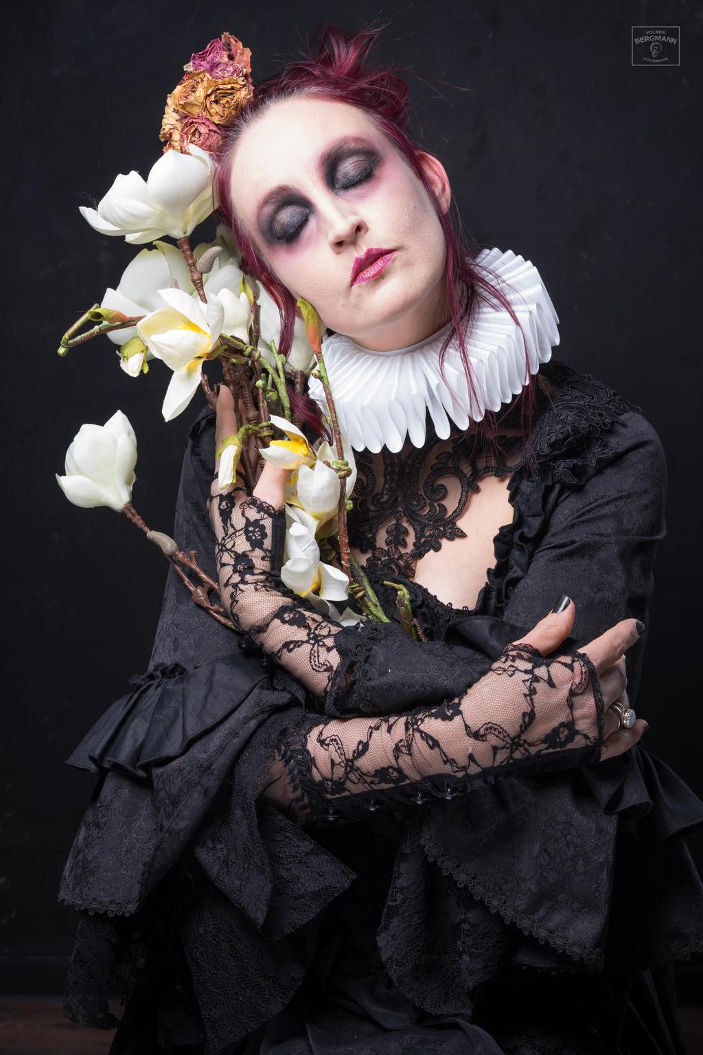 Stock - Strange flower .. gothic portrait dreams