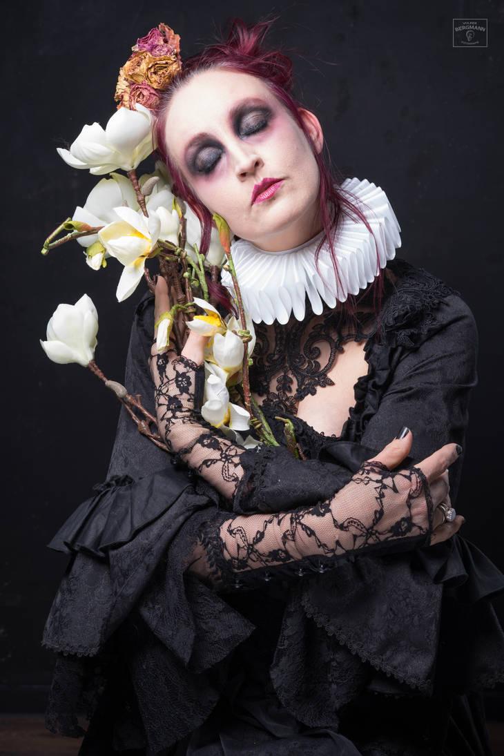 Stock - Strange flower .. gothic portrait dreams by S-T-A-R-gazer