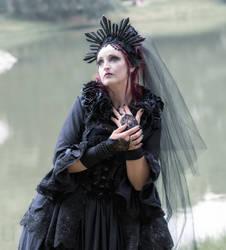 Stock - Gothic lady romantic dark style veil WGT by S-T-A-R-gazer