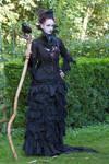 Stock - Dark witch full body raven gotic