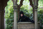 Stock - Baroque vampire climbing pose