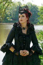 Stock - The dark rose gothic queen portrait pose 1 by S-T-A-R-gazer