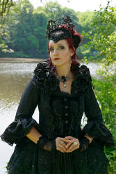 Stock - The dark rose gothic queen portrait pose 2