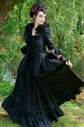 Stock - The dark rose queen flying dress pose 2 by S-T-A-R-gazer
