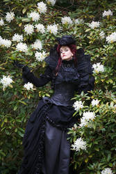 Stock - baroque lady lost in flowers by S-T-A-R-gazer