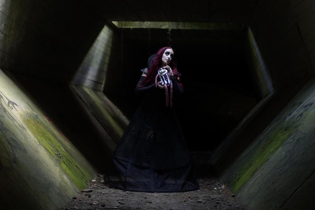 Stock - creepy tunnel halloween open hair 6 by S-T-A-R-gazer
