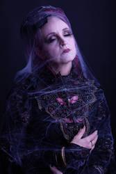 Stock - Spiderweb woman moth portrait gothic by S-T-A-R-gazer