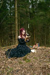 Stock - Bellatrix Lestrange sit book witchcraft