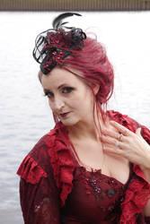 Stock - red lady portrait  romantic victorian 2