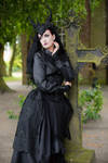 Stock - Gothic crown woman stand pose romantic