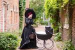 Stock - Gothic lady stroller dark  baroque 2
