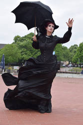 Stock - Gotic lady storm wind hand up pose by S-T-A-R-gazer
